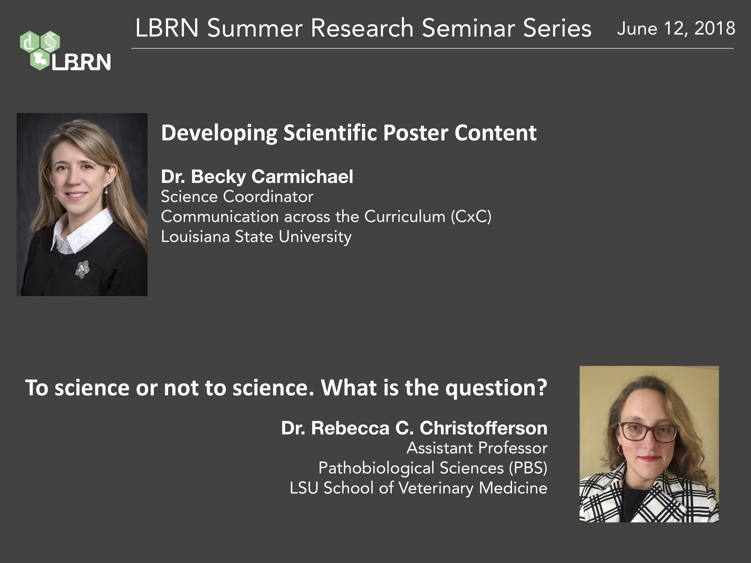 LBRN Summer Research Seminars