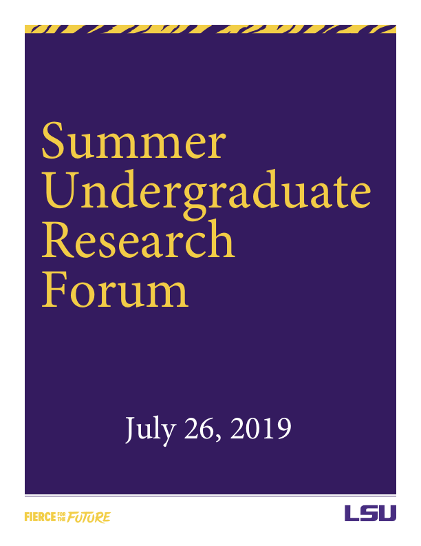 The 26th Annual Summer Undergraduate Research Forum (SURF) Program